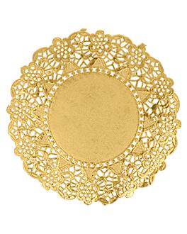 rundes zierdeckchen metallisiert 40 g/m2 + 20 g/m2 Ø 14 cm goldfarben lithographie metallisiert (100 einheit)