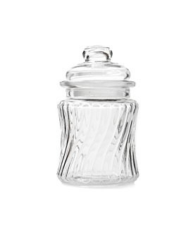 cylindrical storage jar 260 ml Ø 8x13 cm clear glass (48 unit)