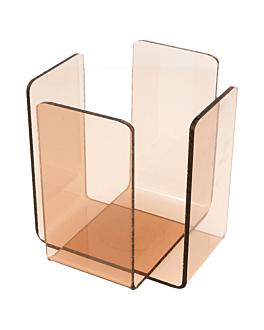dispensador tovallons 11x11x10,8 cm rosa/fumat metacrilat (2 unitat)