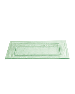 plate 60x30 cm green glass (3 unit)