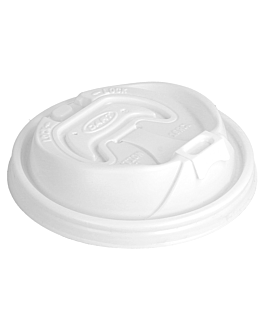 """couvercles pour gobelets """"optima"""" pour - rÉf. 150.51/52/37 Ø 10 cm blanc ps (1000 unitÉ)"""