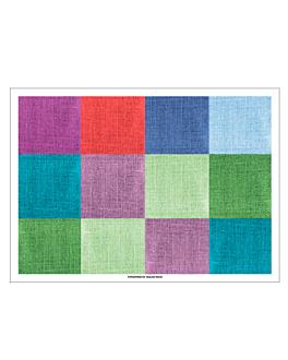 tovaglietta offset 'fabric' 70 g/m2 31x43 cm quatricomia carta (2000 unitÀ)