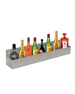 ÉtagÈre bar pour 8 bouteilles 82x10x15 cm argente inox (1 unitÉ)