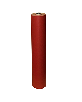papier cadeau couleur unie 60 g/m2 0,70x100 m rouge kraft vergÉ (1 unitÉ)
