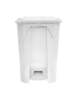 container with lid 80 l 49x43x71 cm white pp (1 unit)