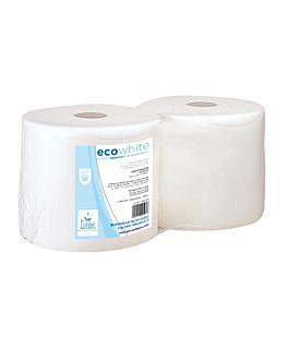 matatrapos ecolabel 1 capa - 2500 hojas 22 g/m2 Ø37x26 cm blanco tissue (2 unid.)