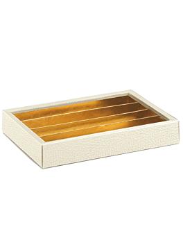 boÎtes chocolats + intercalaires + couvercles 21,5x14,5x3,5 cm blanc carton (50 unitÉ)