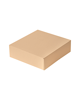 cake boxes without window 'thepack' 240 gsm 23x23x7,5 cm natural nano-micro corrugated cardboard (200 unit)