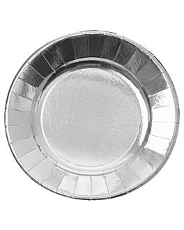 pratos 475 g/m2 Ø28 cm prateado cartÃo (150 unidade)