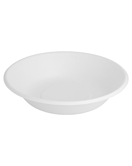deep plates 'bionic' 680 ml Ø 19x4 cm white bagasse (1000 unit)