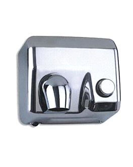 "manual hand-dryer 58 l"" 65ºc 24x28x21,5 cm silver stainless steel (1 unit)"