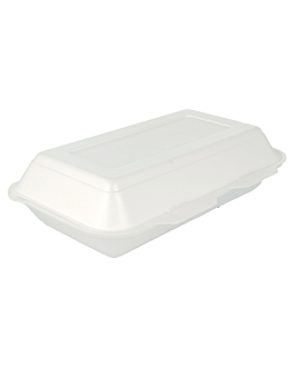 """""""lunch boxes"""" 24x15,5x7 cm blanc pse (400 unitÉ)"""