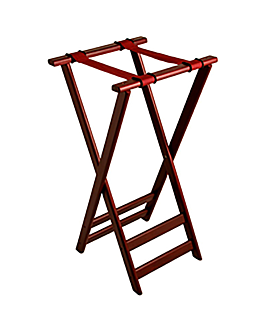 tray stand 82 (h) cm reddish brown wood (1 unit)