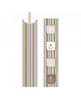 coffee stirrers in open cover 0,6x14x0,1 cm natural wood (100 unit)