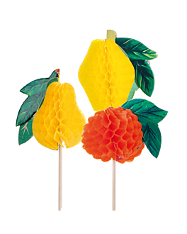 "ice cream decorations ""fruits"" 10 (h) cm assorted wood (100 unit)"