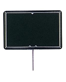 10 u. blackboard tags 8x12x0,2 cm black pvc (1 unit)