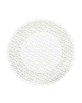 posavasos 'dentelle' 70 g/m2 Ø9 cm blanco airlaid (3000 unid.)