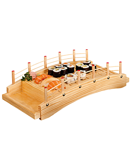 bridge for seafood 43x21,5x12,5 cm natural wood (1 unit)