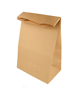 sos bags without handles 48 gsm 22+12x31 cm natural kraft (500 unit)