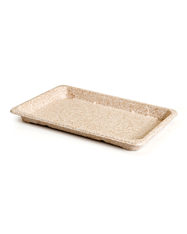 sushi boxes 'bionic' 23,5x15,5x2 cm natural bagasse (800 unit)