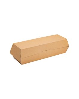 """coquilles """"hot dog"""" 300 g/m2 23,5x9x6 cm marron carton (600 unitÉ)"""