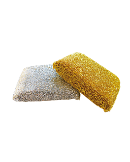 multipurpose sponges 12x8x2,5 cm metal (12 unit)