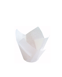 muffin cups 'tulip' 50 g/m2 11x11 cm white greaseproof parch. (1000 unit)