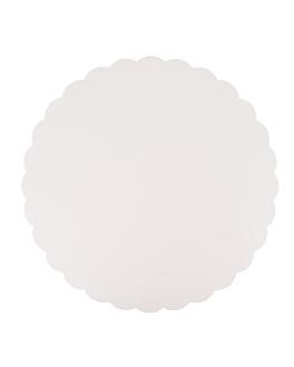 piatti lisci pasticceria 350 g/m2 Ø 32 cm bianco cartone (250 unitÀ)