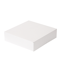 cake boxes without window 'thepack' 250 gsm 23x23x7,5 cm white nano-micro corrugated cardboard (200 unit)