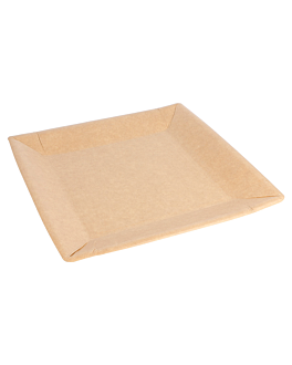 lacquered square plates 255 gsm 23x23 cm natural cardboard (400 unit)