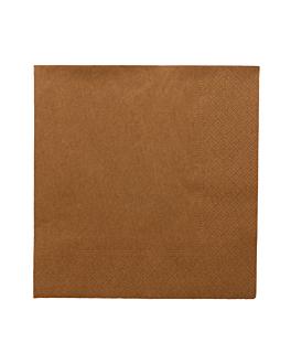 serviettes ecolabel 2 plis 18 g/m2 39x39 cm havane ouate (1600 unitÉ)