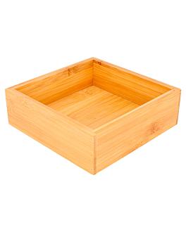 kiste fÜr buffet 15,5x15,5x5 cm natur bambus (1 einheit)