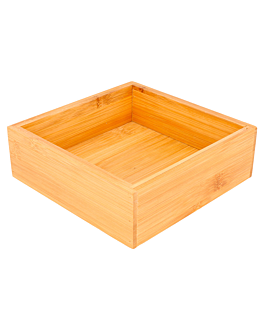 scatola per buffet 15,5x15,5x5 cm naturale bambÙ (1 unitÀ)