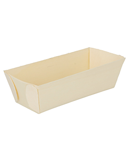 rectangular containers 10x4,5x3 cm natural wood (500 unit)