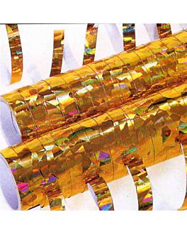 2x18 serpentinas 7mmx4m oro papel (1 unid.)