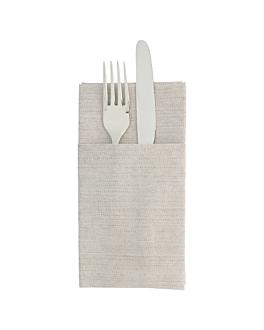 kangaroo napkins 'like linen' 70 gsm 40x40 cm chocolate spunlace (700 unit)