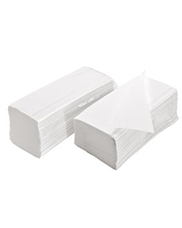 serviettes essuie-mains 2 plis zigzag 21x22,5 cm blanc ouate (4000 unitÉ)