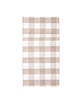 tovaglioli canguro 'like linen - vichy' 70 g/m2 40x40 cm taupe spunlace (700 unitÀ)