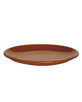 assiettes en faÏence Ø 26,2x3 cm marron rougeatre ceramique (12 unitÉ)