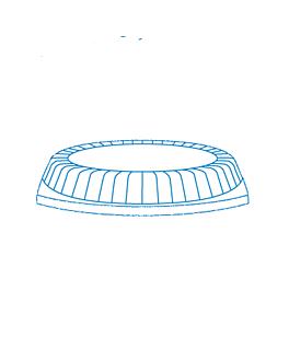 couvercle assiette pour - reference 103.82 23x18x4 cm transparent ps (125 unitÉ)
