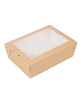 scatole con finestra 'thepack' 1980 ml 220 g/m2 + opp 19,8x14x6,4 cm naturale cartone ondulato a nano-micro (200 unitÀ)