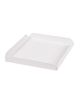 cuadrados con pestaÑas 15x15x2 cm blanco cartÓn (250 unid.)