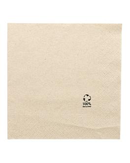 serviettes ecolabel 2 plis 18 g/m2 33x33 cm naturel ouate recyclÉe (2400 unitÉ)