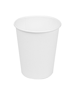 single wall hot drink cups 240 ml 280 + 18 pe gsm Ø8/5,6x9,2 cm white cardboard (1000 unit)