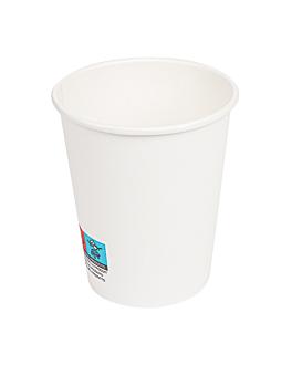 gobelets boissons chaudes 1 paroi 240 ml 280 + 18 pe g/m2 Ø8/5,6x9,2 cm blanc carton (1000 unitÉ)