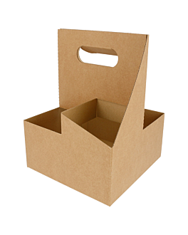 cup carriers, 4 cups 18x18x24 cm natural kraft (200 unit)