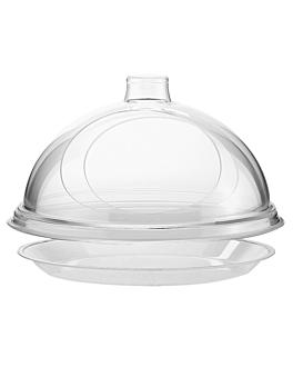 """cÚpula """"gourmet"""" Ø 30,5x19 cm transparente acrÍlico (1 unid.)"""