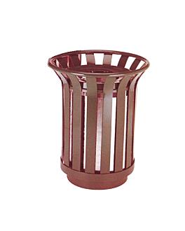 collecteur d'exterieur Ø 59x70 cm marron acier (1 unitÉ)