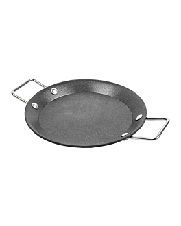 mini paella pans Ø 12,8x1,2 cm black steel (6 unit)