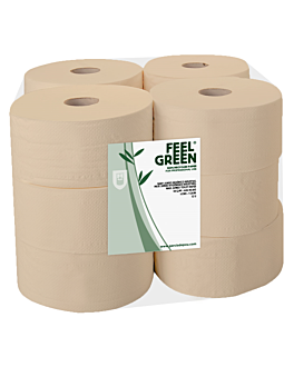"""baby jumbo"" toilet paper ecolabel 2 ply - 160 m 17 gsm Ø 19,5x9,5 cm natural recycled paper (12 unit)"